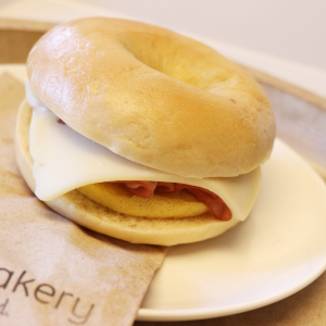 Canadian Ham Breakfast Bagel