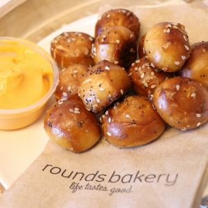 Pretzel Bites'n Cheese Sauce - When it comes to the freshest bagels, doughnuts, bread, pastries and specialty baked goods in the Reno area, Rounds Bakery is your best choice.