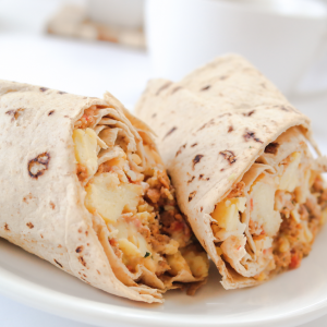 Turkey Chorizo Breakfast Burrito