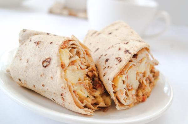 Turkey Chorizo Breakfast Burrito