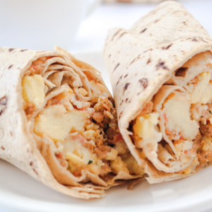 Lo-Carb Turkey Chorizo Breakfast Burrito