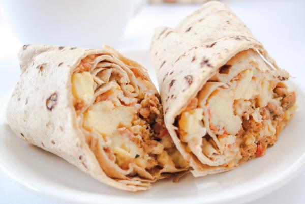 Lo-Carb Turkey Chorizo Breakfast Burrito